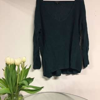 Aritzia Babaton forest green sweater size small (oversized look)