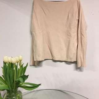 millennial pink crew neck sweater