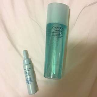 Shiseido toner and blemish clearing gel