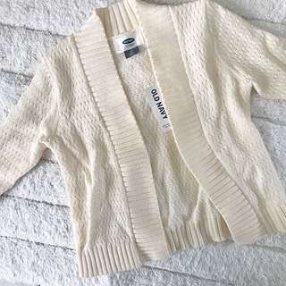 BN Old Navy Baby Girl Cream White Knit Cardigan 2T!