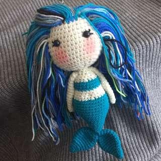 Mermaid Crochet Keychain