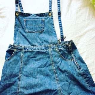 Denim Skirt Overalls size 14