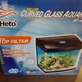 Heto Curved Aquarium 48L