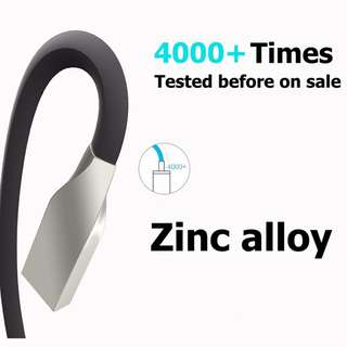 Zinc Alloy USB Data Charging Cable Charger cord for iPhone 1.2M