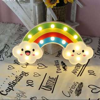 Rainbow Clouds Table Display with lights