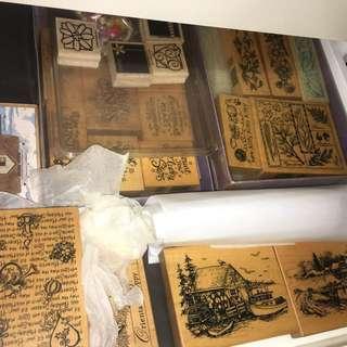 🚚 貝登堡/牧莎/USA木質手作印章