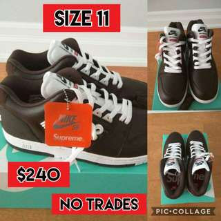 Supreme x Nike Air Force shoes