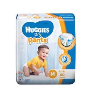 PAMPER HUGGIES DRY PANTS