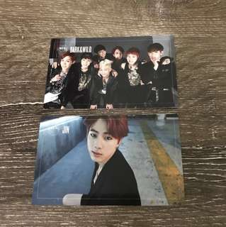 BTS Dark & Wild Photocards