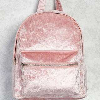 New Velvet Crush Medium Backpack by Forever 21