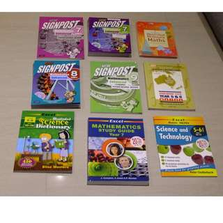 Assorted Primary/High School Maths Textbooks