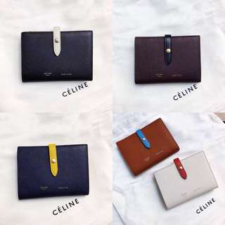 Celine strap wallet in medium