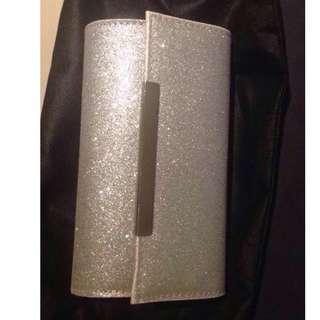 Colette Silver Glitter Clutch
