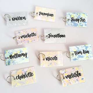 Customisable keychain name keychains names Gifts Tag Tags Door Gift Personalised Customised Chain chains Kids Birthday Goodie Colleague Students Colleagues Christmas Day Calligraphy Classmates Party Student Friend Friends Classmate present presents key