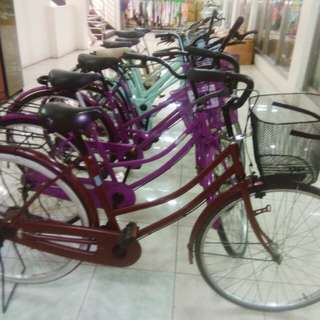Japan bike with basket (color/ Black,purple, skyblue,brown