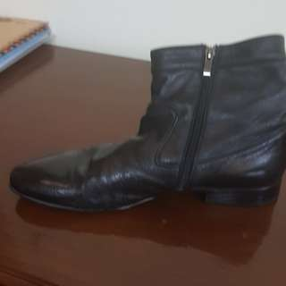 Belmondo branded shoes pantofel boots black leather sz.43