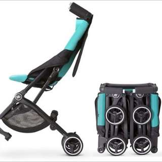 [NEW 2017] gb Pockit Stroller (Capri Blue) - World Lightweight Stroller with Reclining Seat