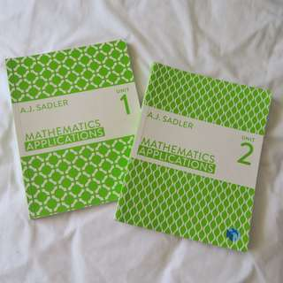 Year 11 Maths Applications Textbooks