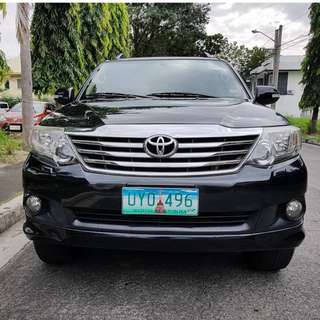 Toyota Fortuner 2013 G Gas Automatic