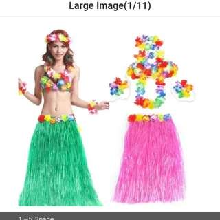Brand new hula skirt set