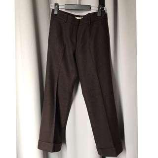 🚚 義大利製 BURBERRY 經典小羔羊毛直筒褲