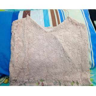 String Lace cami top