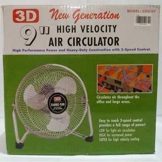3D New Generation 9 Inch Velocity Air Circulator