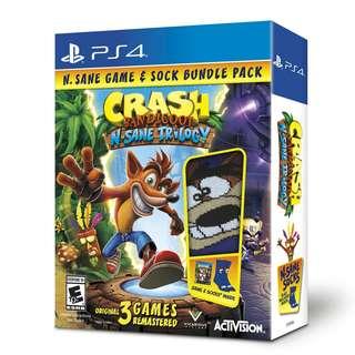 PS4 CRASH BANDICOOT N.SANE TRILOGY & SOCK BUNDLE PACK