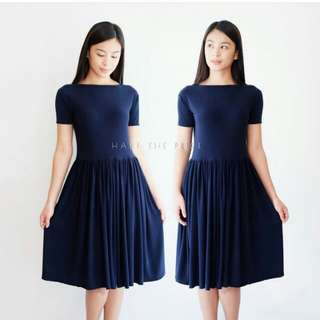 HTP navy blue midi dress