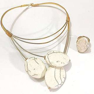 Gold Copper Wire Jewelry Set