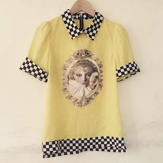 Yellow Collared Blouse