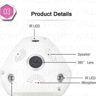 IP VR Camera 360° Panoramic 960P HD WIFI CCTV Home Security Indoor Baby Monitor