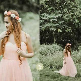 Infinity Dress/Gown Tulle Peach