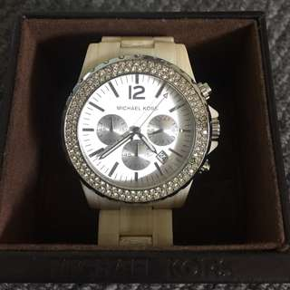 Genuine Michael Kors Ceramic Swarovski crystal watch