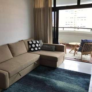 1 bdrm apt 700+ sqft fully furnished