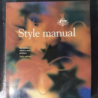 Style Manual 6th Edition
