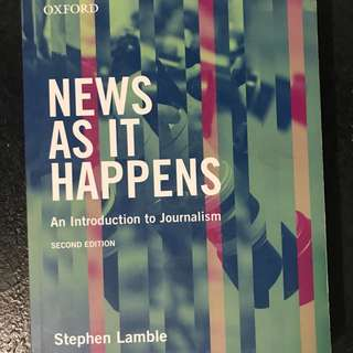 News as it happens textbook
