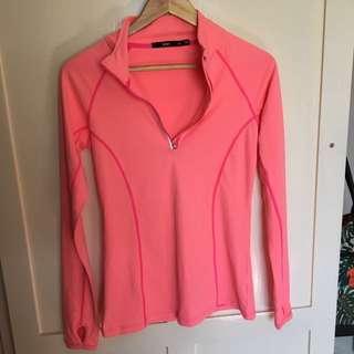 'Sportsgirl' Pink Long Sleeve Active Wear Top