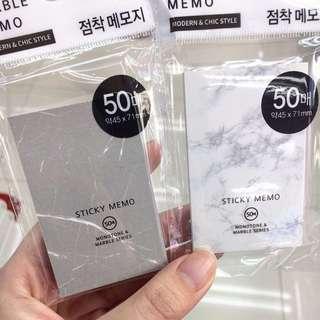 代購 雲石Marble Sticky Memo Pad
