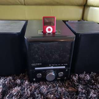 DGTEC Stereo and DVD Player Speaker System with 8gb iPod Classic