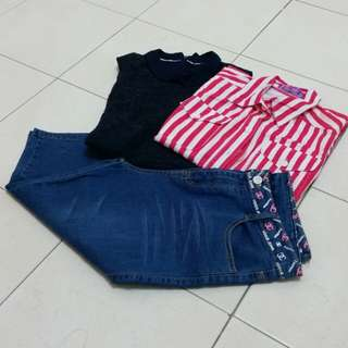 Sleeveless top & Jeans pants (All)