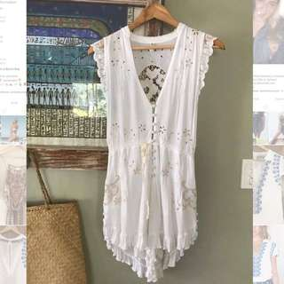 Spell & The Gypsy Collective White Jumpsuit(XS/8)