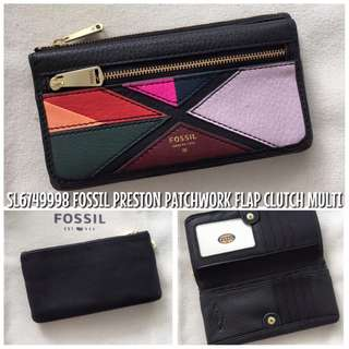 SL6749998 FOSSIL PRESTON PATCHWORK FLAP CLUTCH MULTI