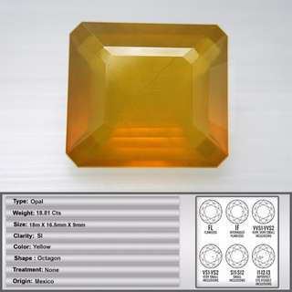 18.81 CT Natural Mexican Fire Opal