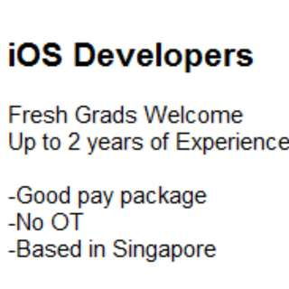 iOS Developer