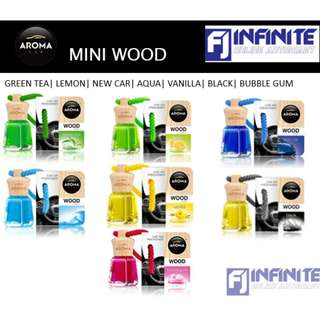 AROMA MINI WOOD 4ML CAR PERFUME OR AIR FRESHENER ( Minyak Wangi Kereta )