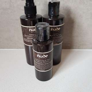Nude by nature! cleanser, toner and make up remover! perfect xmas gift
