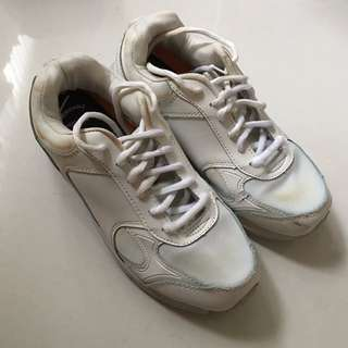 White sport shoes sneakers