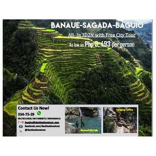 Banaue Sagada  and Baguio Tour
