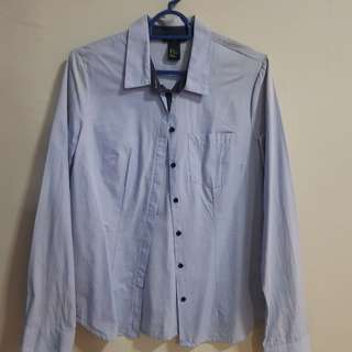 H&M light blue long sleeve shirt. EU 34. $10